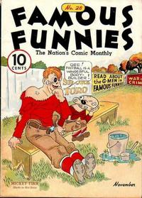 Cover Thumbnail for Famous Funnies (Eastern Color, 1934 series) #28