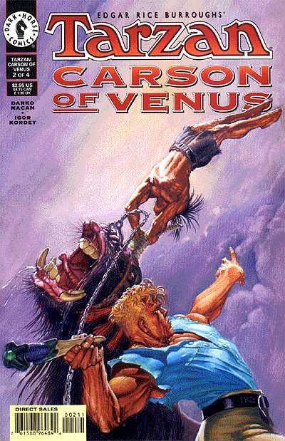 Cover for Tarzan / Carson of Venus (Dark Horse, 1998 series) #2
