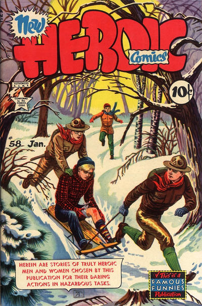 Cover for New Heroic Comics (Eastern Color, 1946 series) #58
