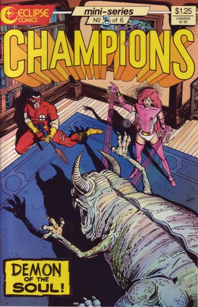 Cover for Champions (Eclipse, 1986 series) #3