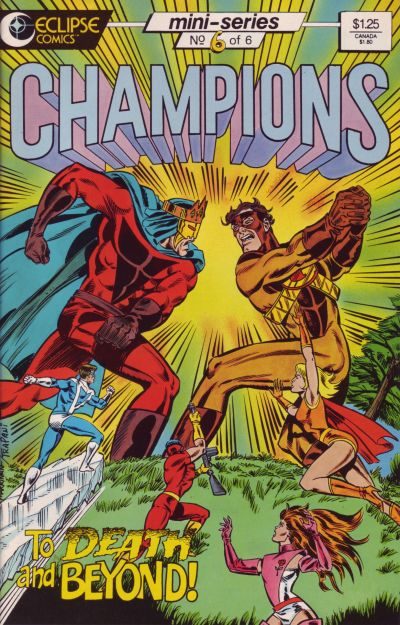 Cover for Champions (Eclipse, 1986 series) #6