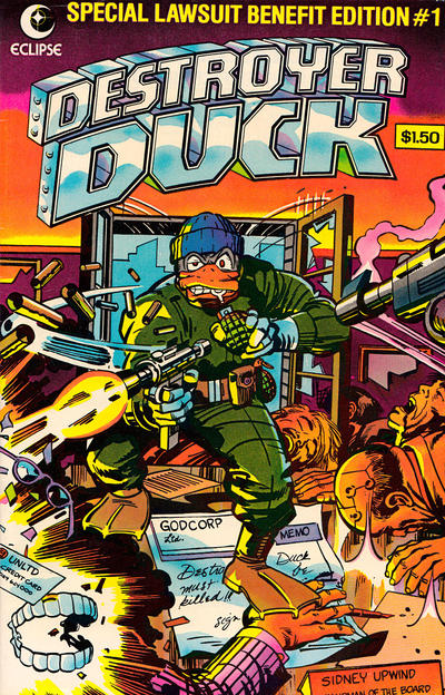 Cover for Destroyer Duck (Eclipse, 1982 series) #1