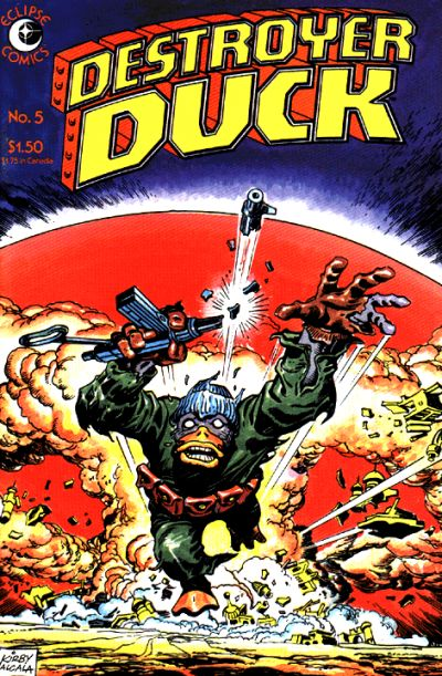 Cover for Destroyer Duck (Eclipse, 1982 series) #5