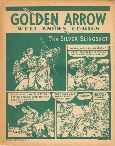 Cover for Golden Arrow [Well Known Comics] (Fawcett, 1944 series) #[nn]