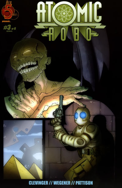 Cover for Atomic Robo (Red 5 Comics, Ltd., 2007 series) #3