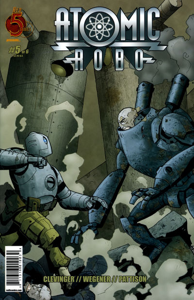 Cover for Atomic Robo (Red 5 Comics, Ltd., 2007 series) #5