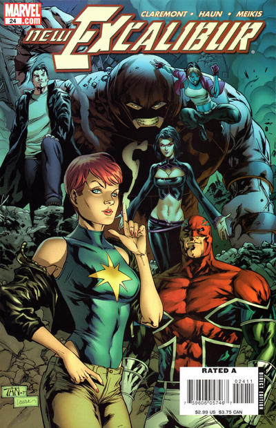 Cover for New Excalibur (Marvel, 2006 series) #24 [Direct Edition]