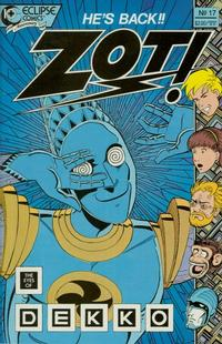 Cover for Zot! (Eclipse, 1984 series) #17