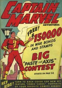 Cover Thumbnail for Captain Marvel Adventures (Fawcett, 1941 series) #15
