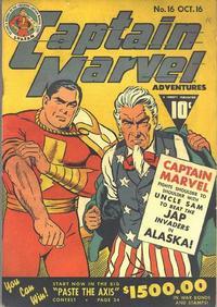 Cover Thumbnail for Captain Marvel Adventures (Fawcett, 1941 series) #16
