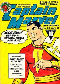 Cover Thumbnail for Captain Marvel Adventures (Fawcett, 1941 series) #20