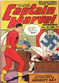 Cover for Captain Marvel Adventures (Fawcett, 1941 series) #21