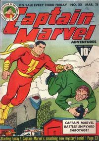 Cover Thumbnail for Captain Marvel Adventures (Fawcett, 1941 series) #22
