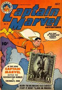 Cover Thumbnail for Captain Marvel Adventures (Fawcett, 1941 series) #37