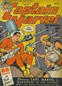 Cover Thumbnail for Captain Marvel Adventures (Fawcett, 1941 series) #54