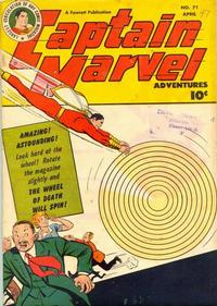 Cover Thumbnail for Captain Marvel Adventures (Fawcett, 1941 series) #71