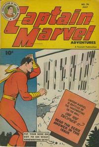 Cover Thumbnail for Captain Marvel Adventures (Fawcett, 1941 series) #74