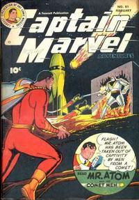 Cover Thumbnail for Captain Marvel Adventures (Fawcett, 1941 series) #81