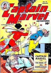 Cover Thumbnail for Captain Marvel Adventures (Fawcett, 1941 series) #93