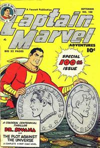Cover Thumbnail for Captain Marvel Adventures (Fawcett, 1941 series) #100