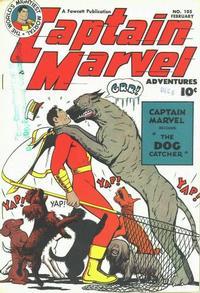 Cover Thumbnail for Captain Marvel Adventures (Fawcett, 1941 series) #105