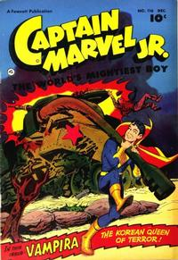 Cover Thumbnail for Captain Marvel Jr. (Fawcett, 1942 series) #116