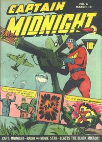 Cover Thumbnail for Captain Midnight (Fawcett, 1942 series) #6