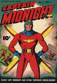 Cover Thumbnail for Captain Midnight (Fawcett, 1942 series) #8