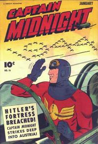 Cover Thumbnail for Captain Midnight (Fawcett, 1942 series) #16