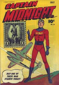 Cover Thumbnail for Captain Midnight (Fawcett, 1942 series) #22