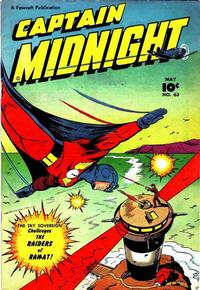 Cover Thumbnail for Captain Midnight (Fawcett, 1942 series) #63