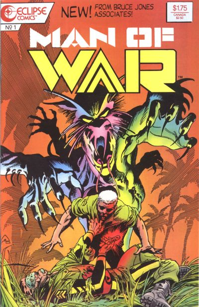 Cover for Man of War (Eclipse, 1987 series) #1