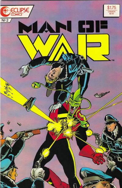 Cover for Man of War (Eclipse, 1987 series) #2