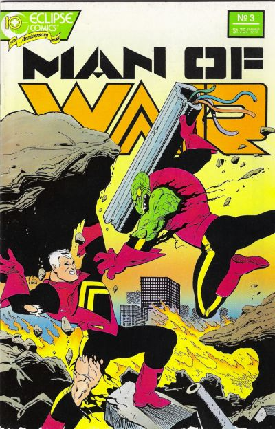 Cover for Man of War (Eclipse, 1987 series) #3
