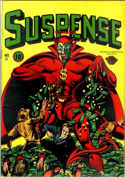 Cover for Suspense Comics (Temerson / Helnit / Continental, 1943 series) #11
