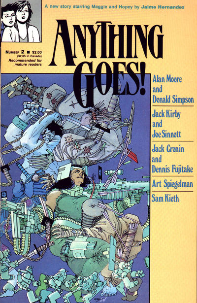 Cover for Anything Goes! (Fantagraphics, 1986 series) #2