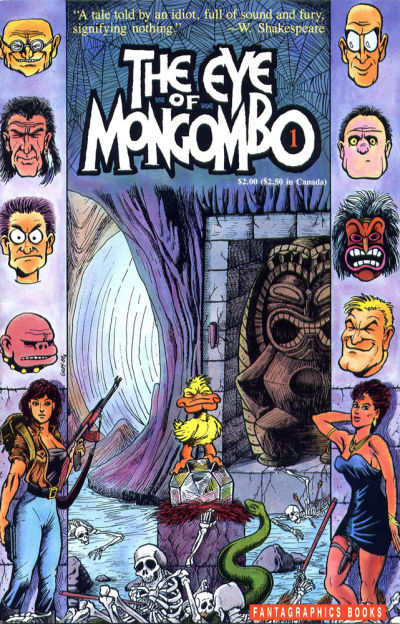 Cover for The Eye of Mongombo (Fantagraphics, 1989 series) #1