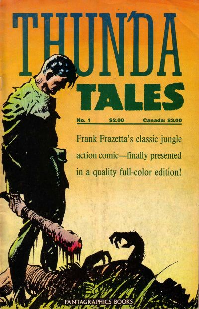 Cover for Frank Frazetta's Thun'da Tales (Fantagraphics, 1987 series) #1