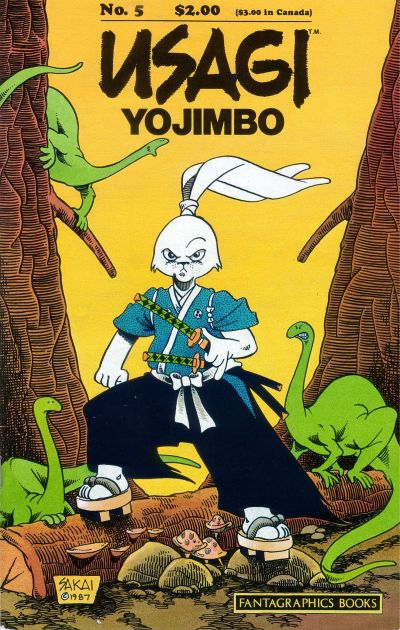 Cover for Usagi Yojimbo (Fantagraphics, 1987 series) #5