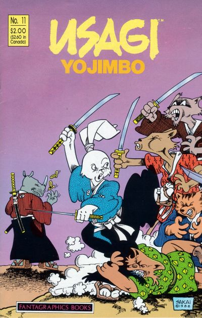 Cover for Usagi Yojimbo (Fantagraphics, 1987 series) #11