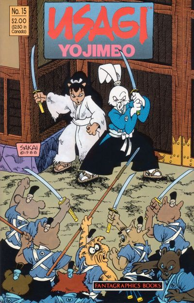 Cover for Usagi Yojimbo (Fantagraphics, 1987 series) #15