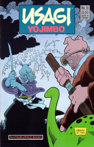 Cover for Usagi Yojimbo (Fantagraphics, 1987 series) #16