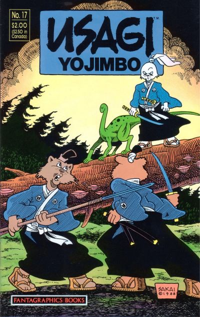 Cover for Usagi Yojimbo (Fantagraphics, 1987 series) #17