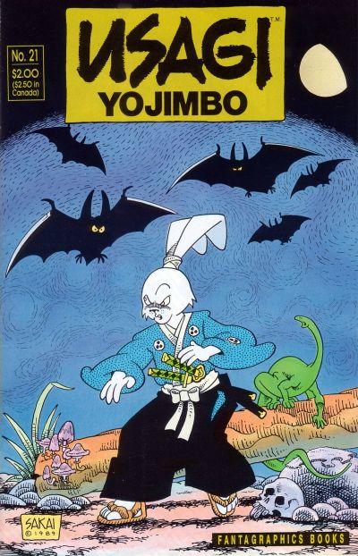Cover for Usagi Yojimbo (Fantagraphics, 1987 series) #21