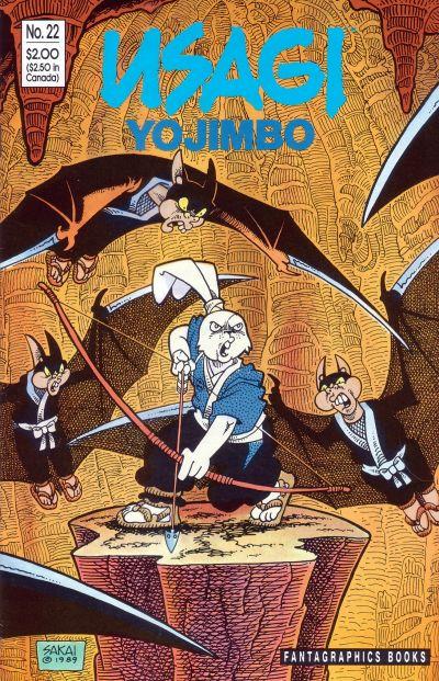 Cover for Usagi Yojimbo (Fantagraphics, 1987 series) #22