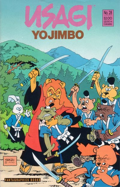 Cover for Usagi Yojimbo (Fantagraphics, 1987 series) #28