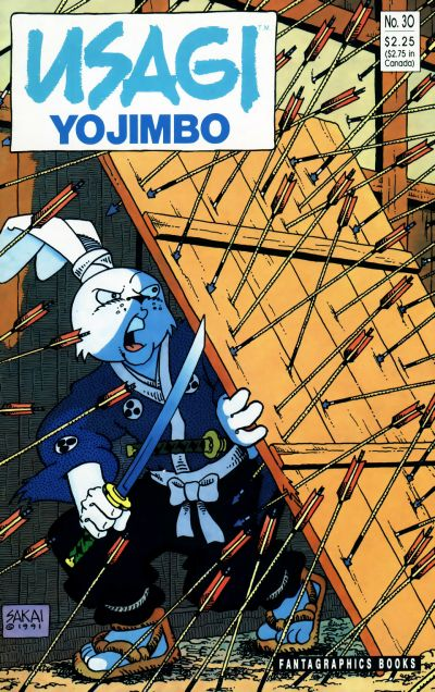 Cover for Usagi Yojimbo (Fantagraphics, 1987 series) #30