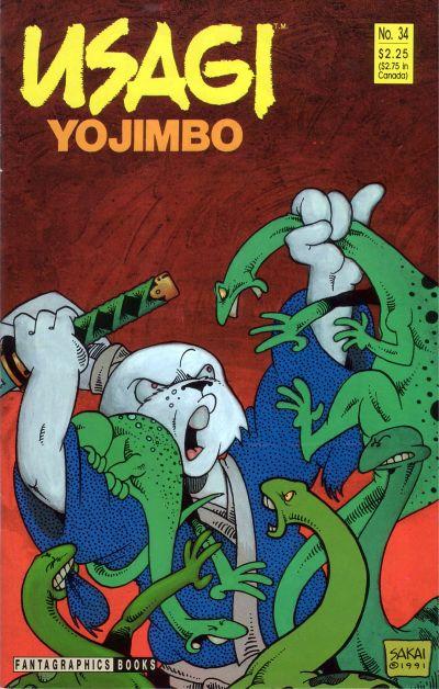 Cover for Usagi Yojimbo (Fantagraphics, 1987 series) #34