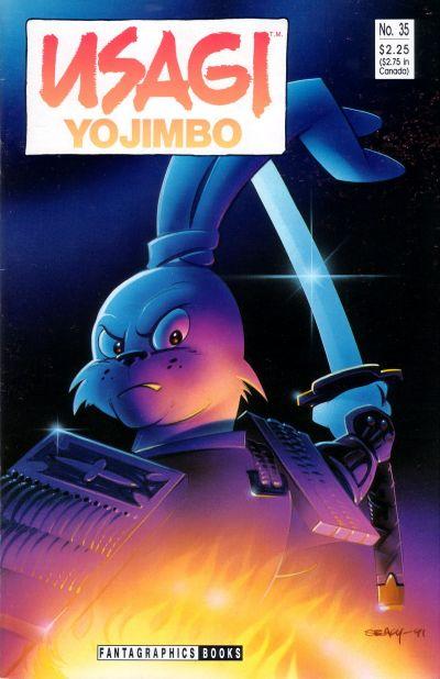 Cover for Usagi Yojimbo (Fantagraphics, 1987 series) #35