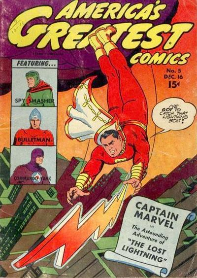 Cover for America's Greatest Comics (Fawcett, 1941 series) #5